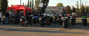 Pano of Bike Night